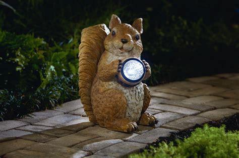 garden oasis squirrel  solar acorn