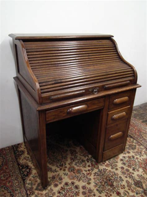 antique roll up desk small oak roll top desk antiques atlas