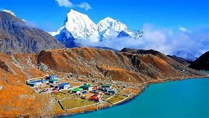 Nepal Country Himalayas Card Bnesim Plain Located