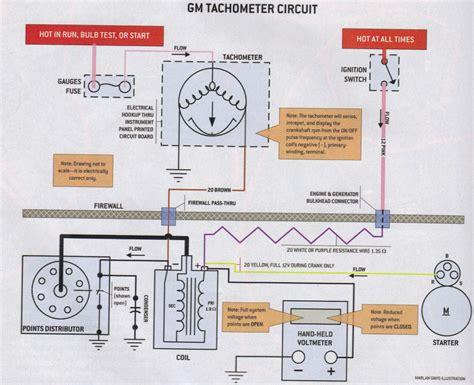 Wiring Diagram For Tachometer by Gm Tachometer Wiring Wiring Diagram