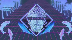 aesthetic wallpaper wallpaper vaporwave statue glitch