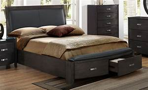 cinema king bed charcoal leon39s With furniture and mattress warehouse king