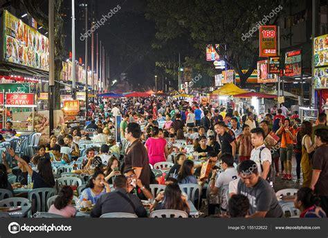 jalan alor food street  kuala lumpur stock editorial
