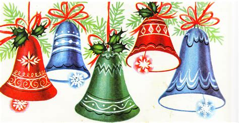 vintage christmas bells card front vintage christmas cards of 20th century