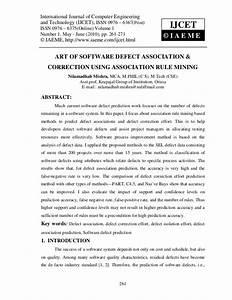 Art of software defect association & correction using ...