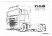 Kleurplaten DAF oldtimer trucks ::DOTC::