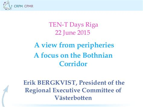 ten  corridors forerunners   sustainable mobility system  ber