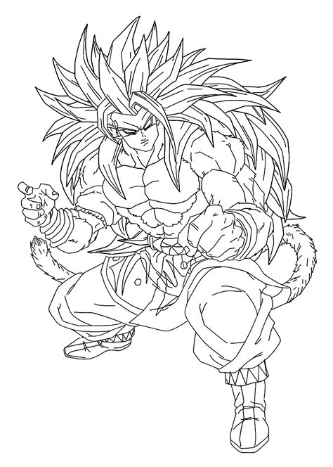 color con z goku z anime coloring pages for