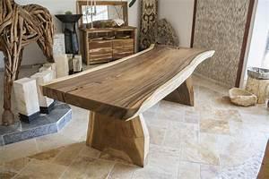 Baumstamm Als Tisch : der tischonkel tischplatte aus einem baumstamm suar ~ Watch28wear.com Haus und Dekorationen