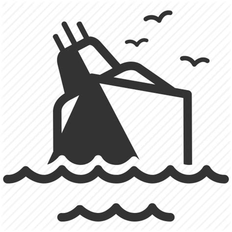 Sinking Boat Icon by Insurance By Siwat V