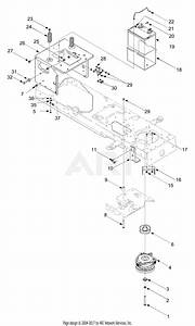 Mtd 13ar608p731  2004  Parts Diagram For Pto  Battery  Frame