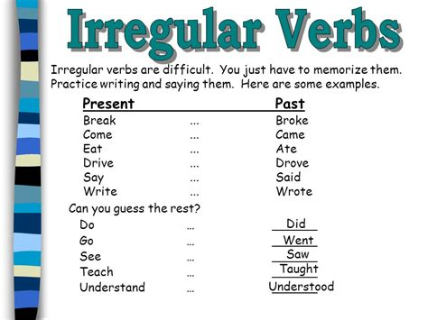 Irregular Past Tense Verbs  Lessons  Tes Teach. Printable Bubble Letters L Template. Funny Spiritual Anniversary Messages. Punctuation Worksheets High School Template. Training Certificate Template Download. Sample Letter Asking For Raise Template. Goodwill Donation Spreadsheet Template. Thank You Letter To Your Boss For Support Template. Invitaciones Para Graduacion Universitaria Template
