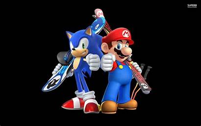 Sonic Mario Wallpapers Games Sochi Olympic Winter