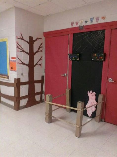 barn doorway  classroom door decorationadd