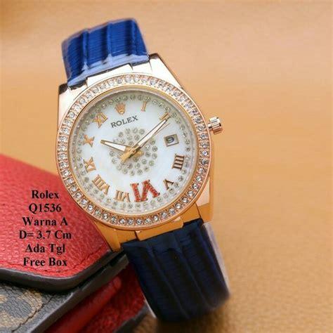 Jam Rolex Ring Mata 012 jual jam tangan wanita rolex angka romawi ring rosegold di