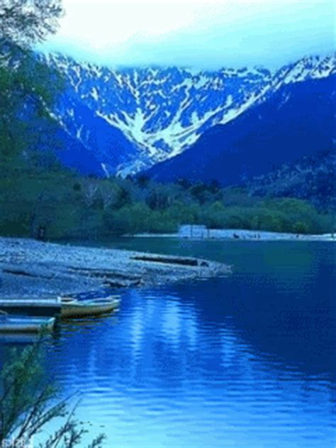 animated deep blue lake pictures   images