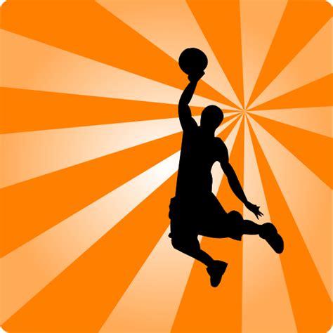 basketball orange silhouette clip art  clkercom
