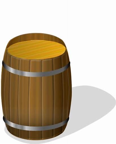 Clip Barrel Wooden Wine Vector Clipart Brown