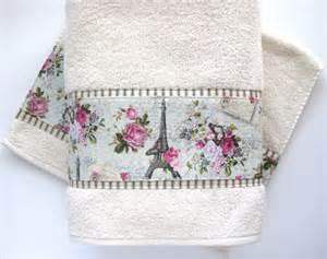 paris towel cream hand towels vintage paris bathroom
