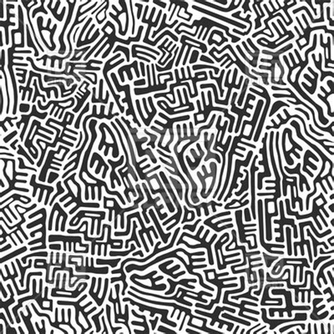 abstract seamless pattern labyrinth background vector