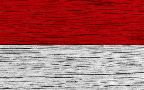 wallpapers flag  indonesia  asia wooden