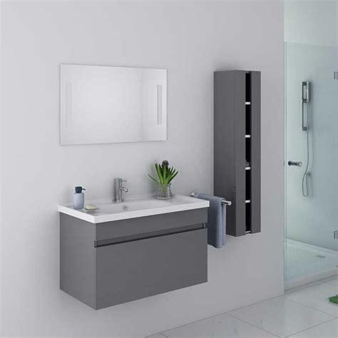 beau meuble de salle de bain gris taupe suspendu meuble de salle de bain gris taupe ref dis800agt