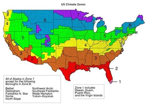 Bathroom Zone Map by Us Climate Zones Map For Different Insulation Types And R