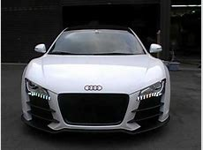 AUDI R8 lifting system lifts up the super motor car in a