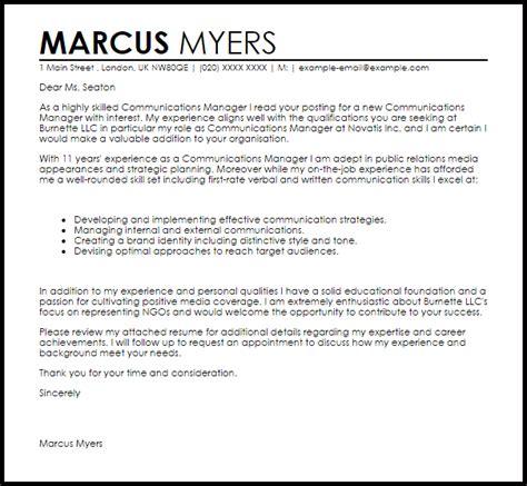 festival coordinator cover letter communications manager cover letter sle cover letter