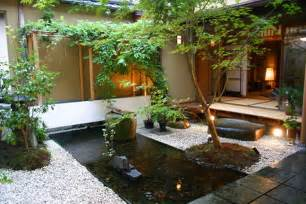 decoration landscape small garden ideas with koi fish pond and lighting