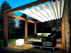Shady Patio Backyard Awning Pergola Sun Shade Retractable