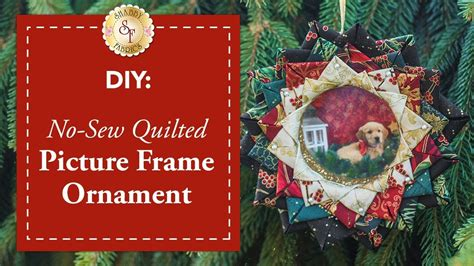 shabby fabrics no sew christmas ornament diy no sew quilted picture frame ornament a shabby fabrics christmas diy craft tutorial youtube