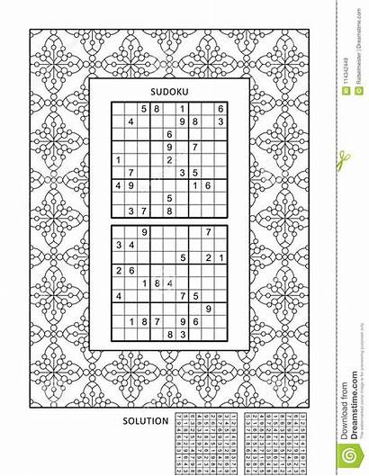 Puzzle Coloring Activity Adults Frame Puzzles Level