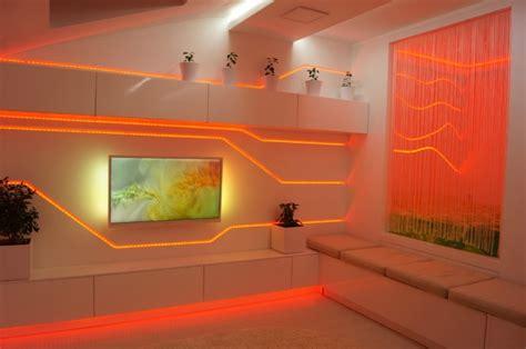 lumi鑽e led cuisine idées d éclairage indirect mural dans les intérieurs modernes