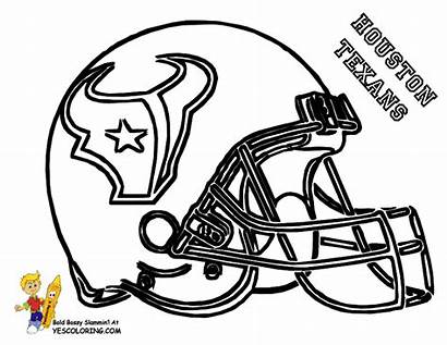 Coloring Football Pages Helmets College Helmet
