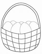 Easter Basket Coloring Pages Eggs Simple Printable Children Egg Drawing Bunny Crafts Paper Sheets Printables sketch template