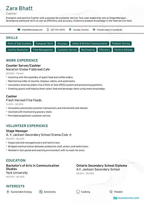 Resume Words For Cashier by Cashier Resume 2019 Guide Exles