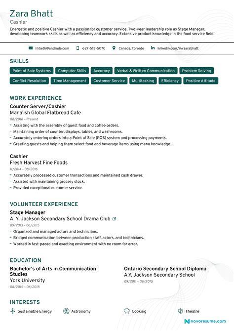 Cashier Resume Exles by Cashier Resume Eezeecommerce