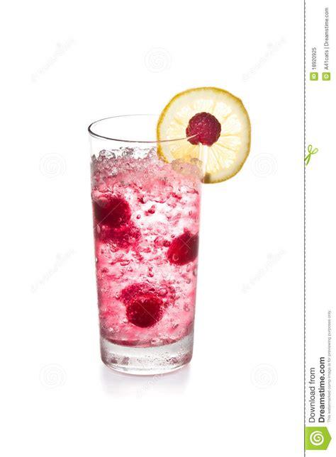 raspberry cocktail  lemon garnish royalty  stock