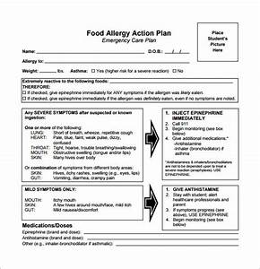 Allergy action plan template 11 free sample example for Allergy action plan template