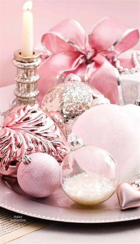 glam pink christmas decor ideas shelterness