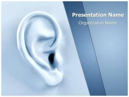 spy ear powerpoint template background