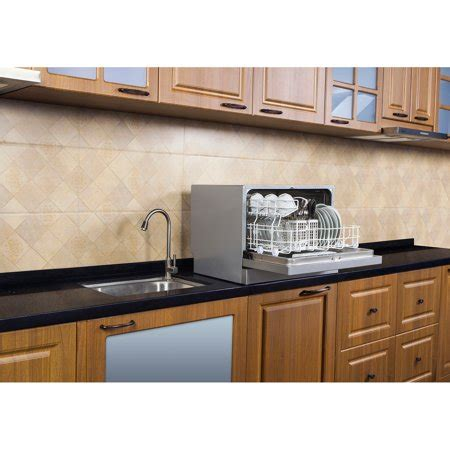 dishwasher with countertop midea 6 place setting countertop dishwasher stainless