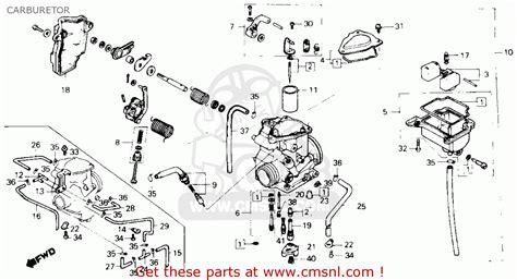 Honda 250sx Wiring Diagram by Honda Atc250sx 1985 F Usa Carburetor Schematic Partsfiche