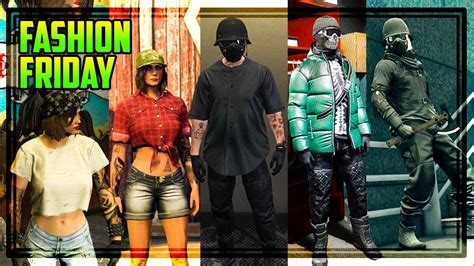 GTA 5 Online FASHION FRIDAY! 40 OUTFITS! (Night Rider Winter Bandit Biker u0026 MORE) - YouTube