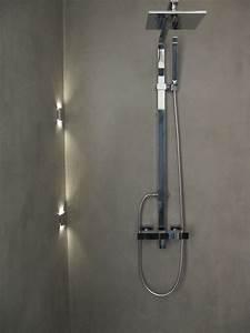 Led Spot Dusche : beton unique beton cire beton cire dusche ~ Markanthonyermac.com Haus und Dekorationen