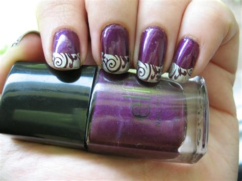 beautiful dark purple nail designs