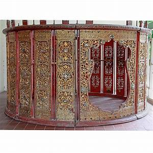 Antique Traditional Burmese Drum/Percussion Circle (Pat ...
