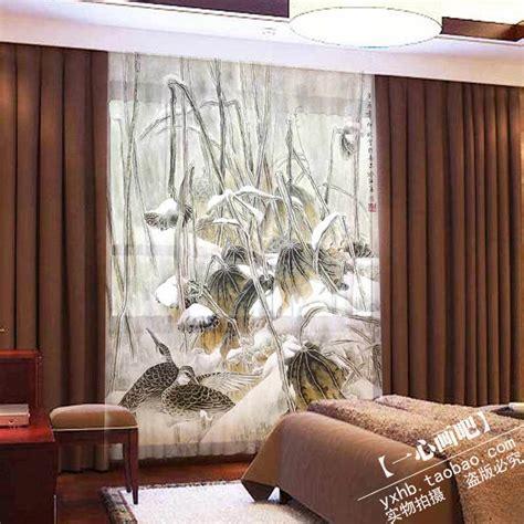 luxury modern print jacquard window curtains custom made