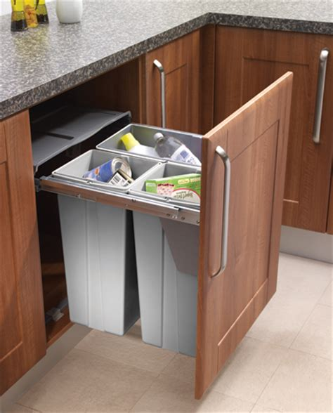 designer kitchen bins 60cm waste bin with 68 litre capacity hinged or pullout 3226